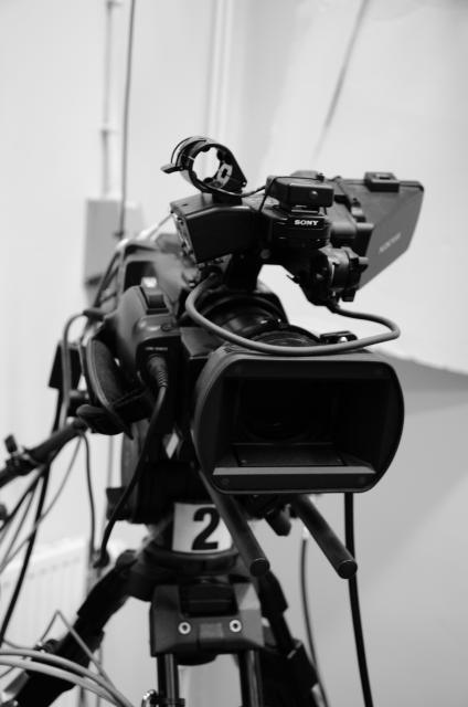 En av filmkamerorna på skolan