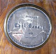 Carl Hanners namnplakett