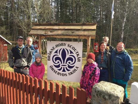 Scouterna blev mycket glada när Bräkne-Hoby Norra Samhällsförening erbjöd scouterna att flytta in till Örseryds gamla småskola.