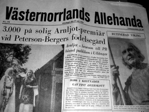 I VA från 1959 finns ett långt reportage om Vilhelm-Peterson-Bergers vikingadrama i Ullånger