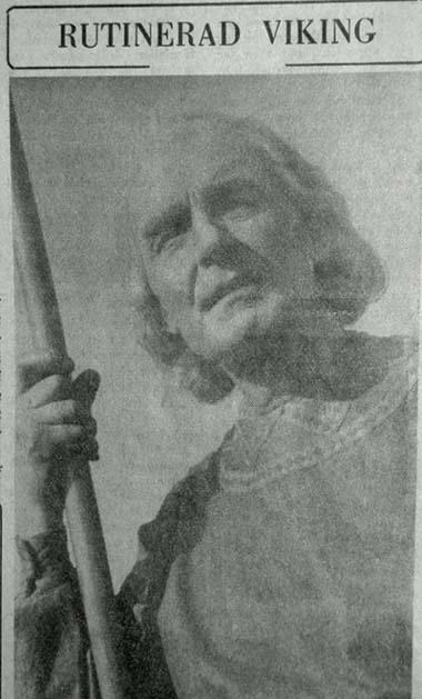 Carl-Mauritz Gustin som framställt Arnjot sen 1945 på Frösön kunde rutinerat och poetiskt framställa sin roll.