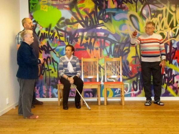 Barbro, Britt, Herbert och Lennart spelade i det röda och svarta laget