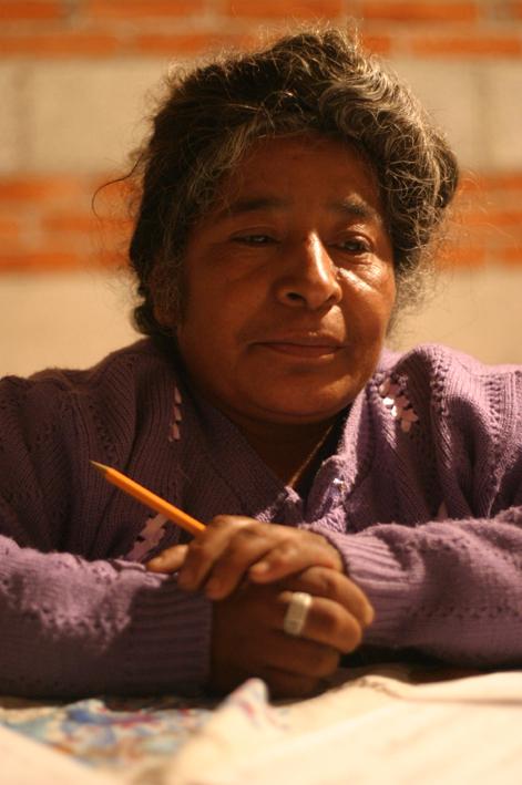 En indiankvinna i byn Azumiatla i provinsen Puebla.