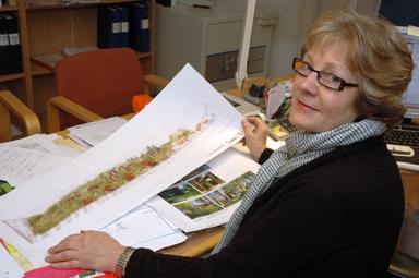 Ulla Jonasson på Stiftelsen Bollebygds Hyresbostäder hoppas på att Bollebygdsborna ser fördelarna med det nya bostadsområdet.