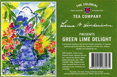 Den allra senaste etiketten. Ett motiv målat av konstnären Lena Linderholms.