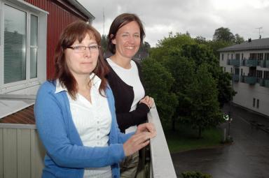 Christina Magnusson och Camilla Falk. Säkerhets- respektive folkhälsosamordnare i Bollebygds kommun.