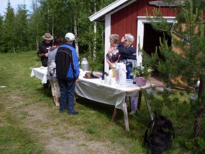 Bild från Kallsta fäbodar under förra årets vandring.