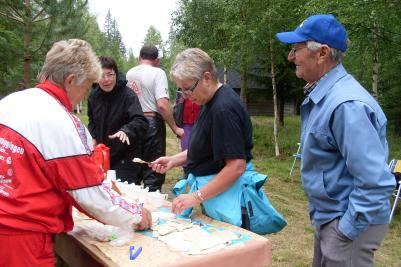 Här har de första vandrarna kommit fram till Kallsta fäbodar.