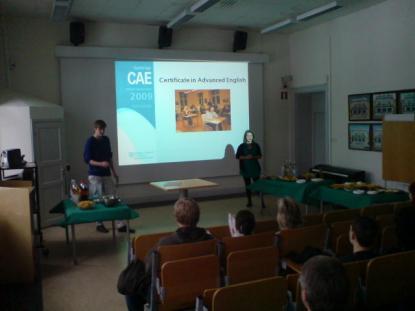 Viktor Fransson och Linnéa Johansson, SP3A berättar om CAE- provet