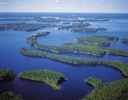 Finland, tusen sjöars land