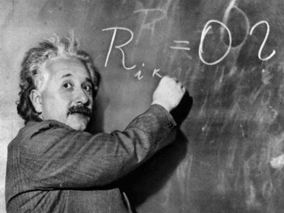 Även Albert Einstein fick vara med.