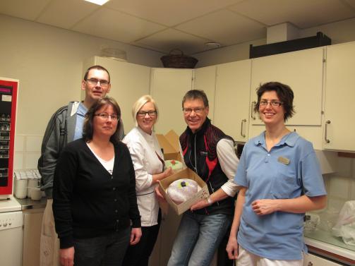 Jeanette Melander, Magnus Rönnblom, Kristina Lundberg, Lars-Erik Fällman och Hanna Själin, delar av personalen på Husum Trehörningsjö Hälsocentral.