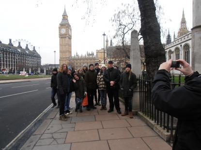 På besök i London