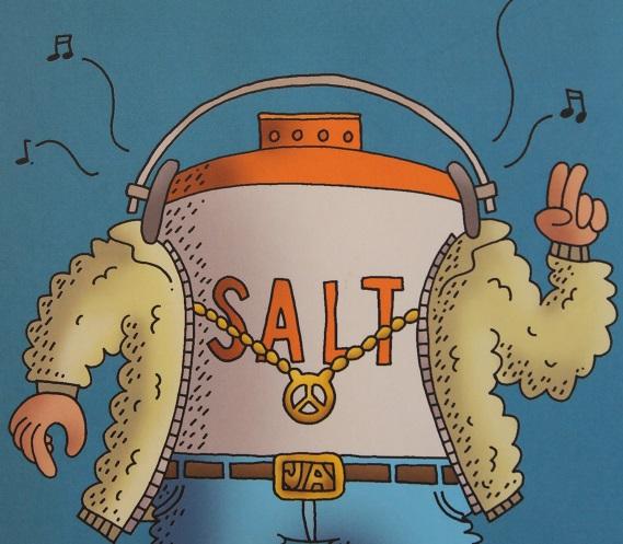 Pass opp! Här kommer Saltmannen! Pepparmannen kommer så fort han slutat nysa.