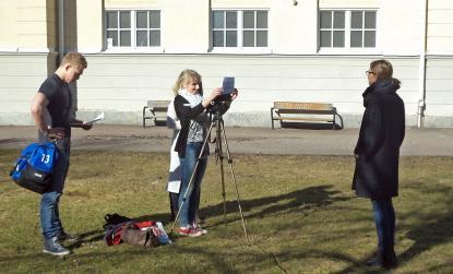Filmning i marssolen