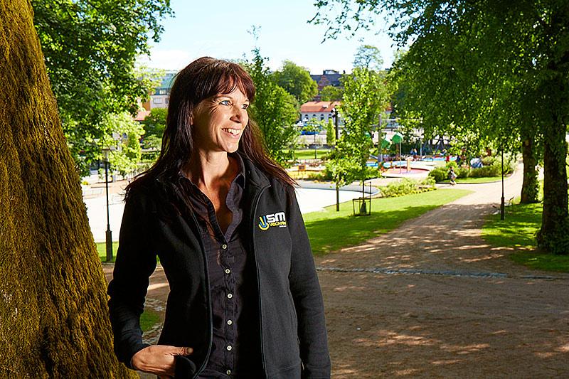Basar för SM-veckan. Som projektledare för SM-veckan är det Maria Krafft som har helikopter- perspektiv över allt som händer.