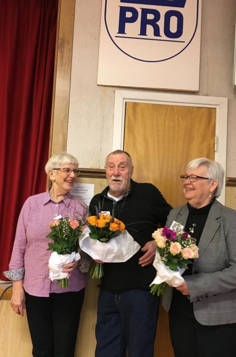 Inga-Maj Cambrant, Johnny Magnusson och Gunhild Svensson