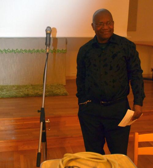 <span>James Sackor Bartee. besökte församlingsaftonen i Ullånger</span>