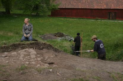 Kan det vara källaren till dem medeltida ärkebiskopsgården man funnit?
