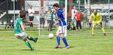 En fin pasning från William Hellsten som Jesper Berens tog väl hand om och gjorde 4-2 till Hestrafors IF.