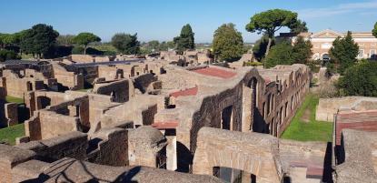 Ruinstaden Ostia utanför Rom