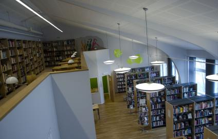 Borgarskolans bibliotek, ovanifrån.
