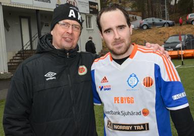 Anders Krok och Alexander Linhard såg till att återuppliva traditionen med ett derbymöte på mellan Hestrafors IF och Bollebygd/Olsfors på långfredagen.