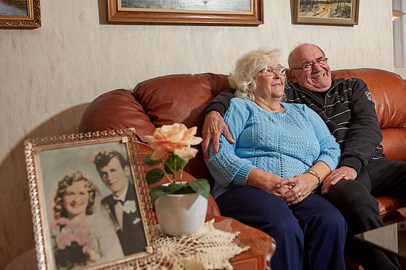 Lång kärlek. Raili och Matti Kirjavainen har hållt ihop i sextio år. Omtanke om varandra, att prata och förlåtelse är deras recept.