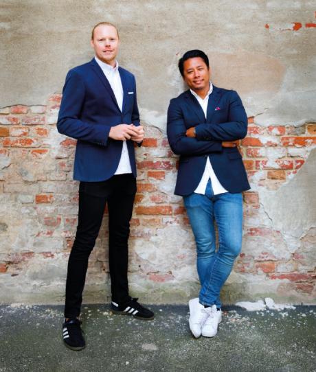 Oskar och Sebastian har hjälpt flera företag att välja rätt byrå.<br />Fotograf:<span>Miriam Preis</span>