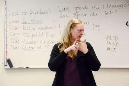<span>Térèse Mölsä språkintroduktionslärare under våren</span>