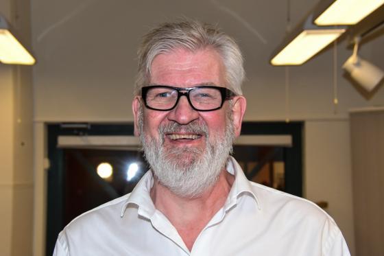 Ralph Utbult, ordförande i<br />Bollebygds Riksteaterföreningen.