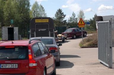 Blir det köer till Råssa återvinningsstation på Kristi himmelfärdsdag?
