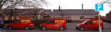 Att säkerhetsföretaget KETAB deltog vid kommunens frukostmöte missade ingen. Företagets ägare Kenneth Andersson informerade om olika former av larm.