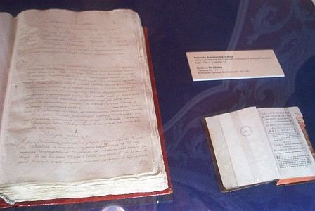 Original Constitution - on the left handwritten and on the right forst publication