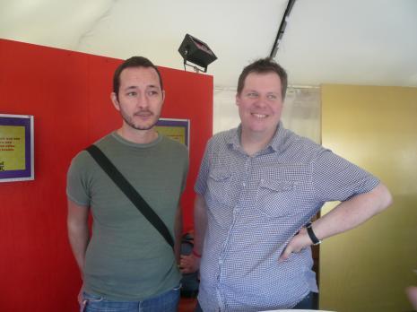 Robert Karlsson och Martin Jefflén var några av festivalbesökarna som besökte Temple of Love.