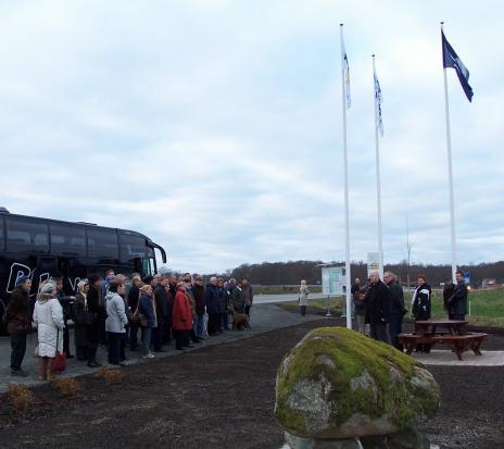 Invigning av informationsplatsen vid avfart E22.
