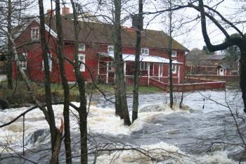 Gavleån i Valbo 11.12.2007