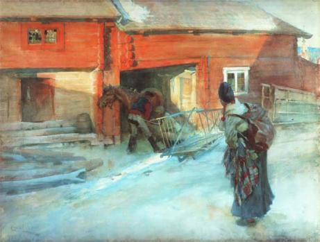 Bondgården av Carl Larsson