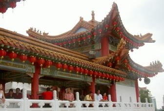 the Thean Hou Temple that I visited on New Year's Day