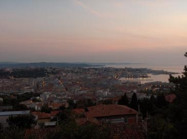 Trieste i solnedgång