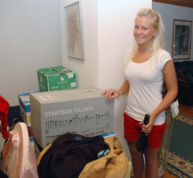Emelie Sellgren har nu packat för några års studier i Västerås.