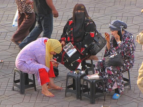 Marrakech - henna artists