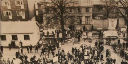 Skolbaracken vid Slottsgatan