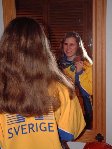 Helena och det svenska landslaget fick med sig en bronsmedalj hem från Olympiaden i Sydney.
