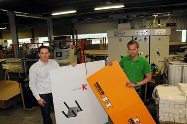 Dennis Artursson och Karl-Olof Järnfors är två av delägarna i Specialwell i Olsfors