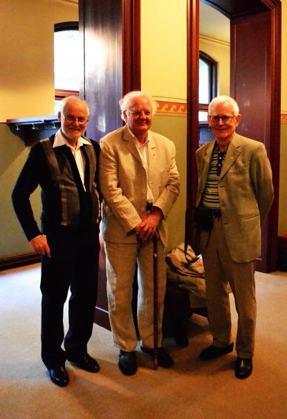 Kvällen till ära besökte tre spexare och hedersverandister från slutet av 1950-talet kvällens föreställning