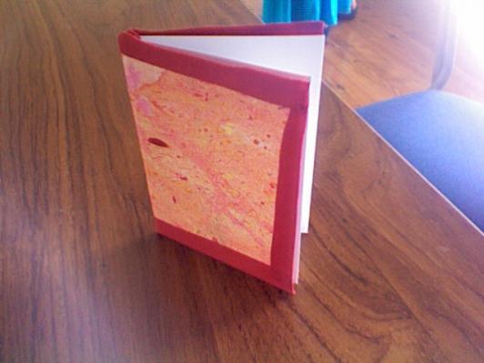 Alla deltagare har gjort var sin reflektionsbok