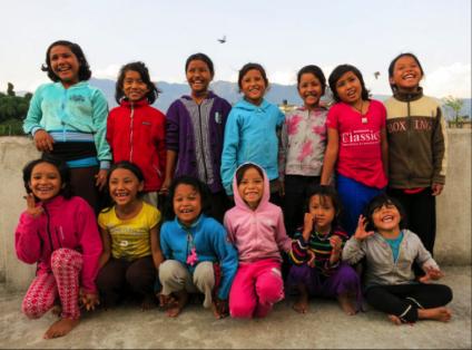 Flickorna som bor på flickhemmet i Kathmandu, Nepal.<br />Copyrightt: Föreningen för gatubarn iNepal