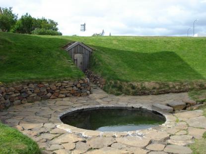 Delar av Reykjaholt, Snorres gård, som den ser ut idag.<br /><br />