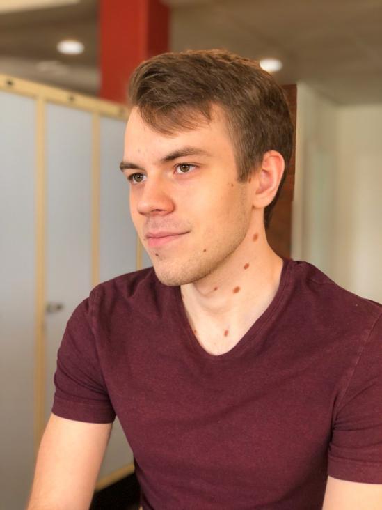 Sebastian Olsson går teknikprogrammet med inriktning teknikvetenskap, vill studera direkt efter studenten.